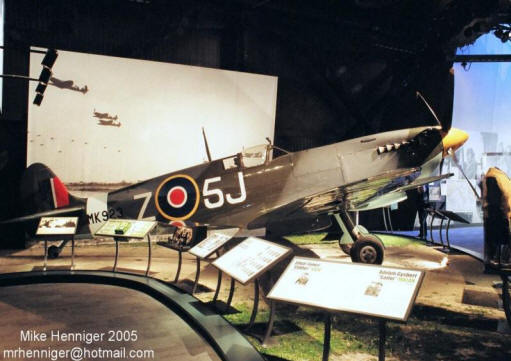 Spitfire MK923 static display 2004